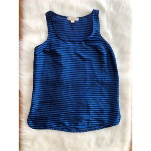 Michael Kors Black & Blue Striped Tank Top